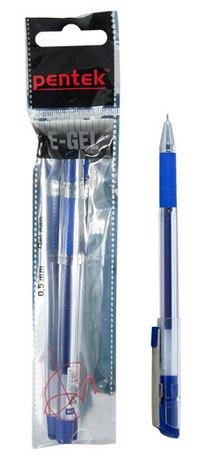 "Ручка гелевая ""e-gel"" 0,5мм, синяя, Pentek"