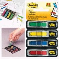 """Закладки самоклеящиеся """""""", 12 мм, 4 цвета*24 листа, Post-it"""