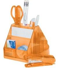 """Настольный офисный набор """"classic"""", 14 предметов, вращающийся, оранжевый, Silwerhof"""