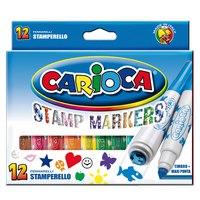 "Фломастеры carioca ""stamp marker"", 12 цветов, Universal"