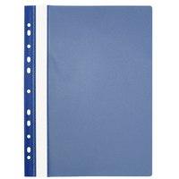 Папка-скоросшиватель с европланкой, темно-синяя, а4, PANTA PLAST