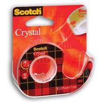 "Лента клейкая ""scotch cristal"", на диспенсере, прозрачная, 19 мм х 7,5 м, 3M"