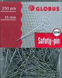 Булавки канцелярские, 35 мм, 250 штук, Глобус