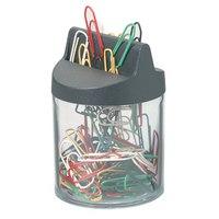 Скрепочница-стаканчик магнитная + цветные скрепки, Durable