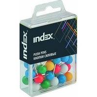 Кнопки силовые, сферические, 20 мм, Index (канцтовары)