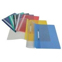 Папка-скоросшиватель, синяя, а4, штрих-код, Durable
