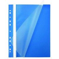 Папка-скоросшиватель с европланкой, а4, синяя, Index (канцтовары)