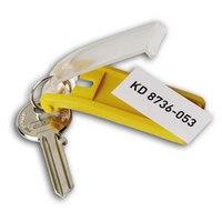 """Набор брелков для ключей с инфо-окном """"key clip"""", Durable"""