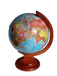 Глобус политический рельефный диаметром 210 мм на деревянной подставке, Глобусный мир