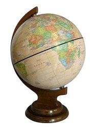 """Глобус политический рельефный """"ретро-александр"""" на деревянной подставке, Глобусный мир"""