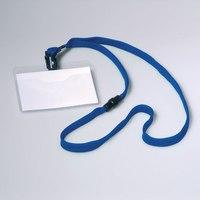 Бейдж горизонтальный на текстильном темно-синем шнуре, Durable