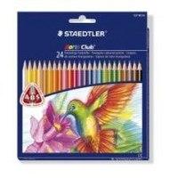"""Набор цветных карандашей """"noris club"""", треугольные, 24 цвета, Staedtler"""