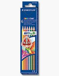 """Набор цветных карандашей """"noris club"""", треугольные, 6 цветов, Staedtler"""