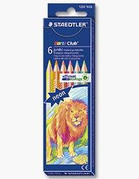 """Набор цветных карандашей """"noris club"""", треугольные, 6 цветов, неон, Staedtler"""