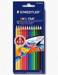 """Набор цветных карандашей """"noris club"""", акварельные, 12 цветов, с кистью, Staedtler"""