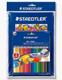 """Набор цветных карандашей """"noris club"""", акварельные, 24 цвета, с кистью, Staedtler"""