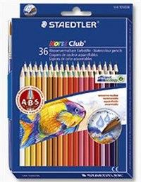 """Набор цветных карандашей """"noris club"""", акварельные, 36 цветов, с кистью, Staedtler"""