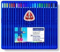 """Набор цветных карандашей """"ergosoft"""", акварельные, треугольные, 24 штуки, Staedtler"""