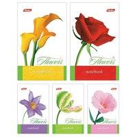 """Блокнот """"цветы"""", а7, 48 листов в клетку, Hatber"""