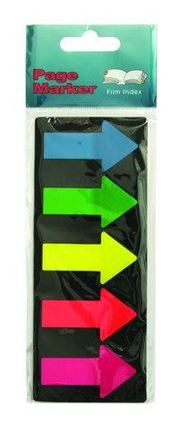 """Блок-закладка с липким слоем """"стрелки"""", 5 цветов по 25 листов, GLOBAL"""