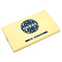 Бумага для заметок с липким слоем, 40х50 мм, желтая, 100 листов, GLOBAL