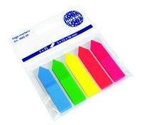 """Блок-закладка с липким слоем """"стрелки"""", 12х50 мм, 5 цветов по 25 листов, GLOBAL"""