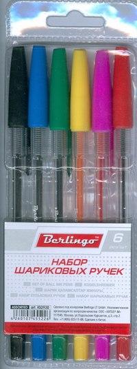 """Набор шариковых ручек """""""", 6 цветов, Berlingo"""