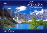 """Альбом для рисования """"величественная природа"""", 32 листа, на скрепке, Hatber"""