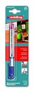 Чёрный перманентная ручка-маркер, Edding