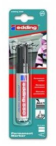 Чёрный перманентный маркер e-550, Edding