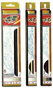 Набор чернографитных карандашей, 6 штук, Волшебные палочки