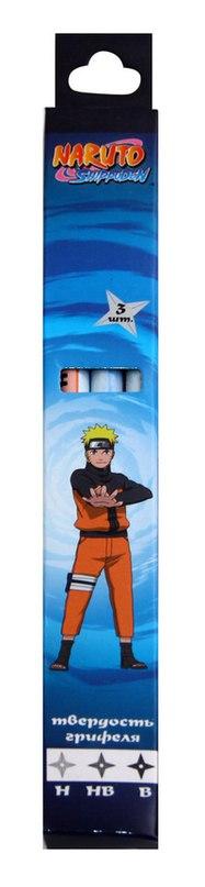 Набор чернографитных карандашей, 3 штуки, Naruto
