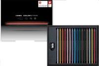 """Цветные карандаши """"color stripe"""" + точилка, 16 цветов, LYRA"""