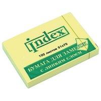 Бумага для заметок с липким слоем, 100 листов, Index (канцтовары)