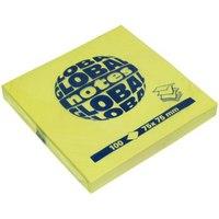 Бумага для заметок с липким слоем z-сложения, 100 листов, GLOBAL