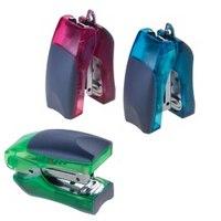 """Степлер """"stand up mini"""", зеленый, прозрачный, 12 листов, №24/6, 20 мм, Office Force"""