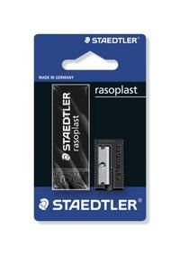 """Набор ластик """"rasoplast"""" + точилка, черный, Staedtler"""