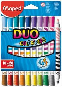"Фломастеры ""color peps duo"", 10 штук, 20 цветов, Maped"