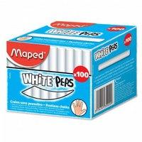 """Мел круглый """"white peps"""", 100 штук, белый, Maped"""