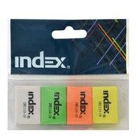 Набор ластиков, ассорти, 4 штуки, Index (канцтовары)