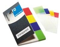 Блок-закладка с липким слоем, 4 цвета по 40 листов, 20x50 мм, прозрачные, GLOBAL