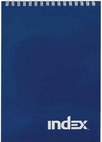 """Блокнот на гребне """"office classic"""", черный, а4, 60 листов, клетка, Index (канцтовары)"""