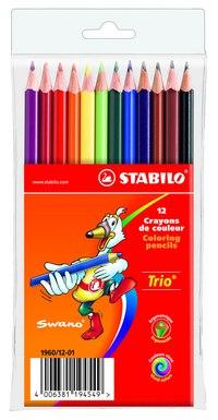 Набор цветных карандашей trio, 12 цветов, STABILO