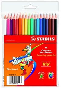 Набор цветных карандашей trio, 18 цветов, STABILO