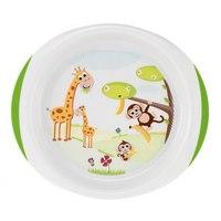 """Набор для кормления """""""". тарелка мелкая и глубокая, (зелёная), от 6 месяцев, Chicco"""