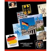 """Тетрадь """"в мире знаний. немецкий язык"""", 48 листов, а5, Канц-Эксмо (Listoff, Unnika Land)"""