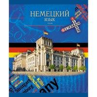 """Тетрадь """"школьная серия. немецкий язык"""", 40 листов, а5, Канц-Эксмо (Listoff, Unnika Land)"""