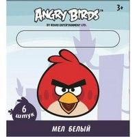 "Мел белый ""angry birds"", 6 штук, CENTRUM"