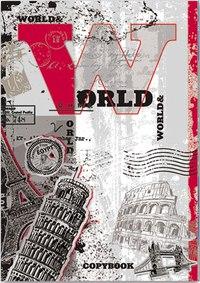 """Тетрадь """"вокруг света"""", а5, 80 листов, клетка, Феникс+ (канцтовары)"""