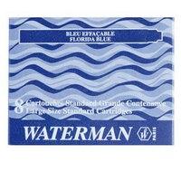 Картридж с чернилами для перьевой ручки, 6 штук, синий, Waterman
